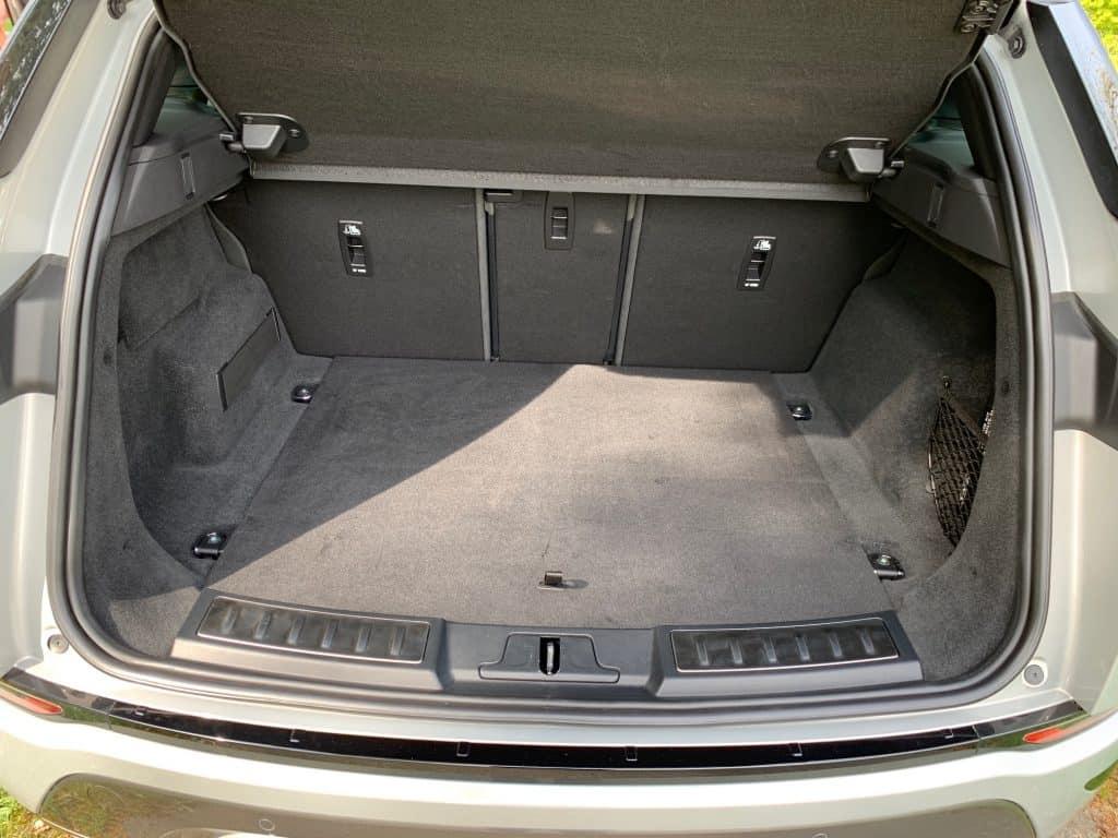 Range Rover Evoque, Kofferraum