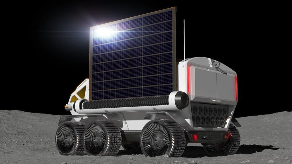 Konzept Rover-Mondfahrzeug mit Brennstoffzellenantrieb der Weltraumagentur JAXA und Toyota.