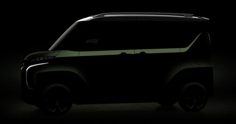 Noch nur schemenhaft: Mitsubishi Mi-Tech Concept Super Height K-Wagon Concept.