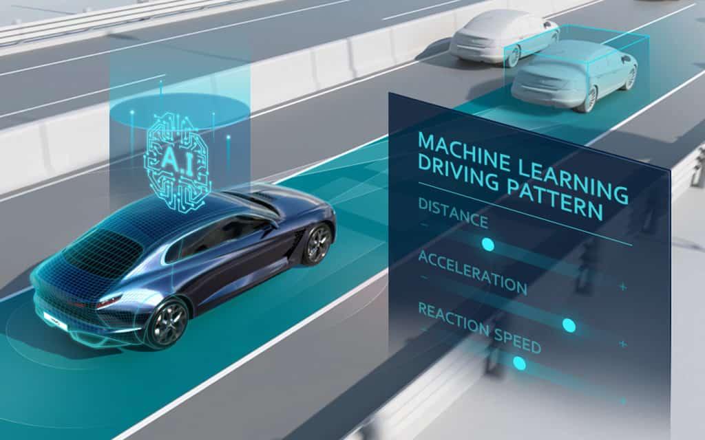 Infografik zur intelligenten Geschwindigkeitsregelanlage SCC-ML von Hyundai.