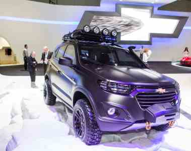 Chevrolet Niva Concept auf dem Moskauer Automobilsalon 2014.