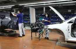 Produktion bei Volkswagen in Zeiten von Corona.