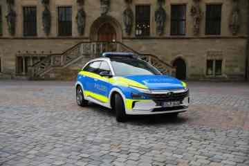 Hyundai-Nexo-Einsatzfahrzeug der Polizei Osnabrück