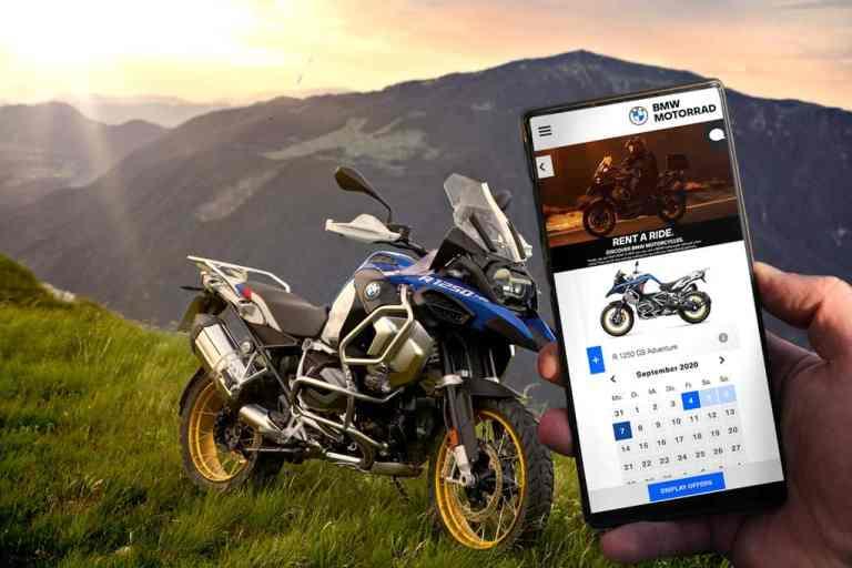 """BMW-Vermietungsplattform """"Rent a Ride""""."""