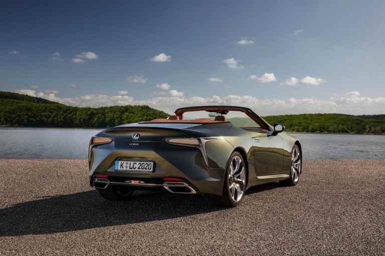 Lexus stellt das LC 500 Cabrio ruhig