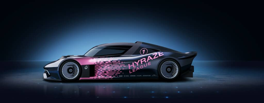 So der so ähnlich könnten die Wasserstoff-Rennwagen der geplanten Hyraze-Motorsportserie aussehen, für die HWA und Schaeffler die technische Basis liefern.