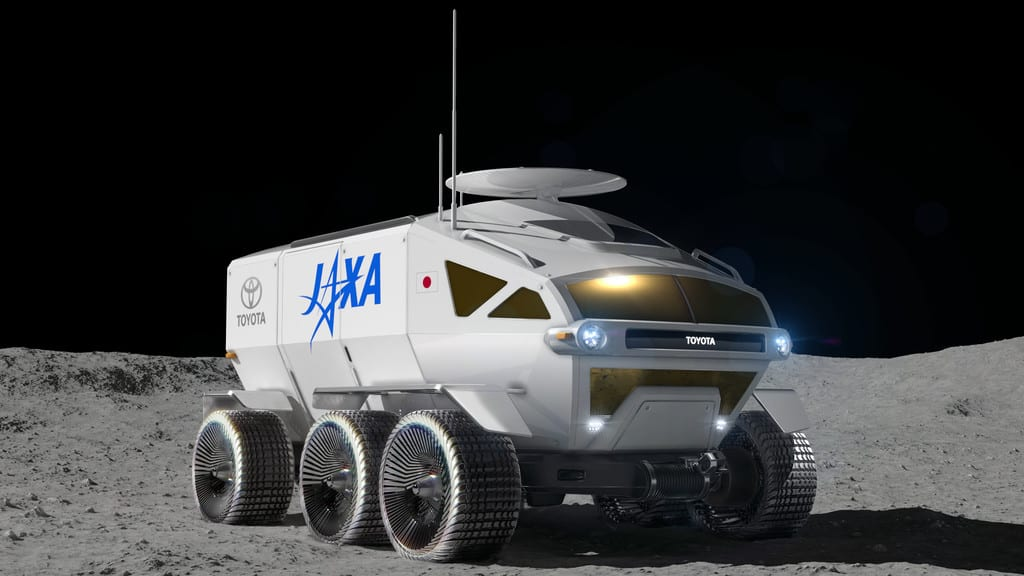 Jaxa-Mondfahrzeug von Toyota.