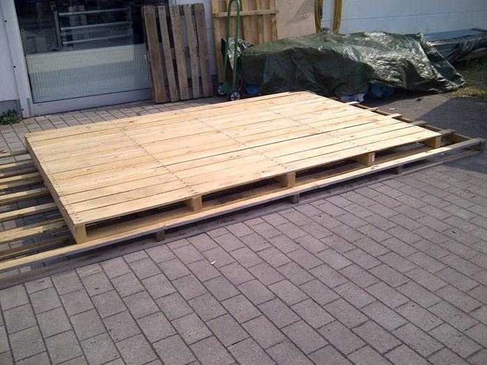 wir bauen ein sofa aus paletten, Garten und erstellen