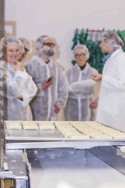Besichtigung tofu Produktion