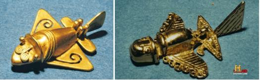 Goldene Flugzeuge