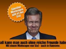 Autovermieter wirbt mit Christian Wulff