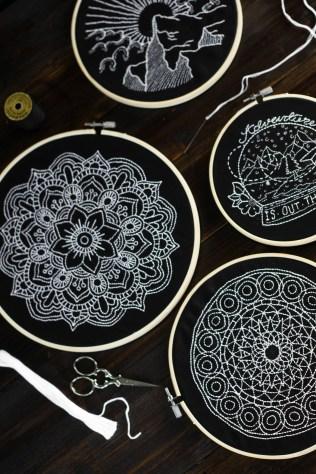 sticken-embroyding-stitching-schwarz-weiss-black-white-mandala-adventure-nature-blackwork-5