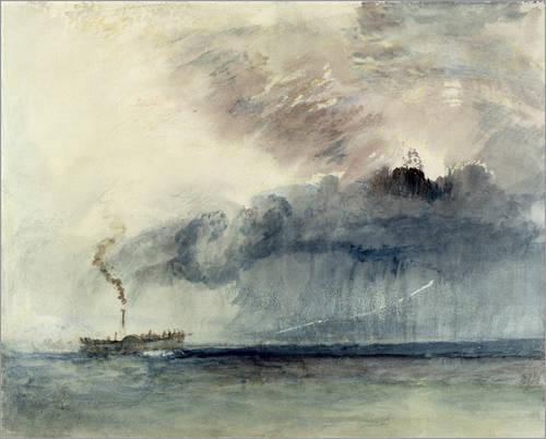 poster-dampfschiff-in-einem-sturm-120345