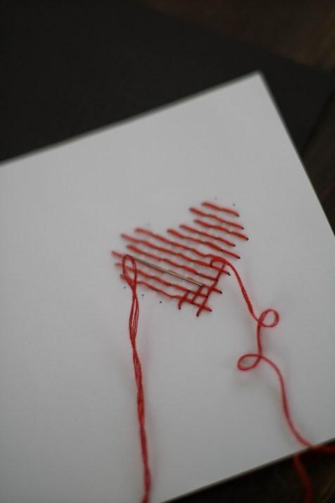 DIY Karte Sticken Valentstag Herz-5