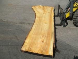 Tischplatte aus Massivholz Pappel S-00056
