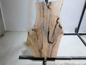 Tischplatte aus Massivholz Esche C/W 090