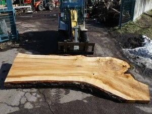 Tischplatte aus Massivholz Pappel S-00077