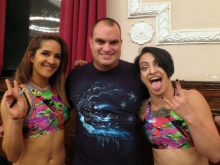 Pic with Shimmer Tag Team Champions Slap Happy (Evie and Heidi Lovelace).