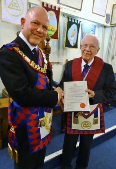 MEGS presents CM to Vernon Barnes