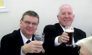 SGC Officers and beer 2