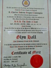 The Certificate of Merit