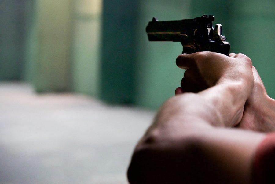 arms blur close up firing