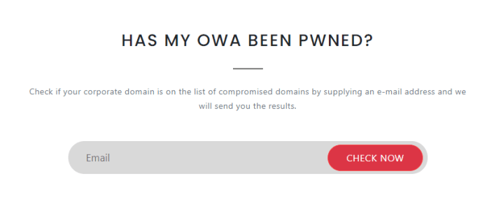 Check Your OWA