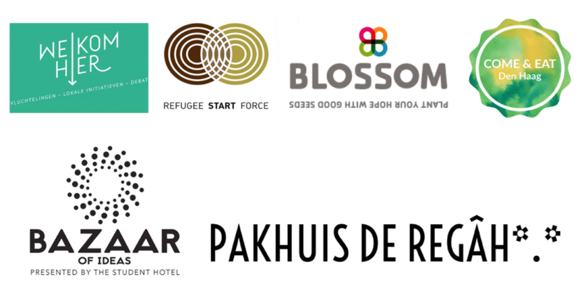 Eat to Meet Den Haag partners logos Welkom Hier Come Eat Meet Blossom 070 Pakhuis de Regah Den Haag
