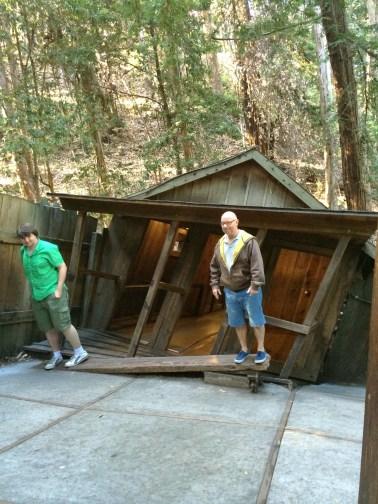 Inclinación en la cabaña Mystery Spot