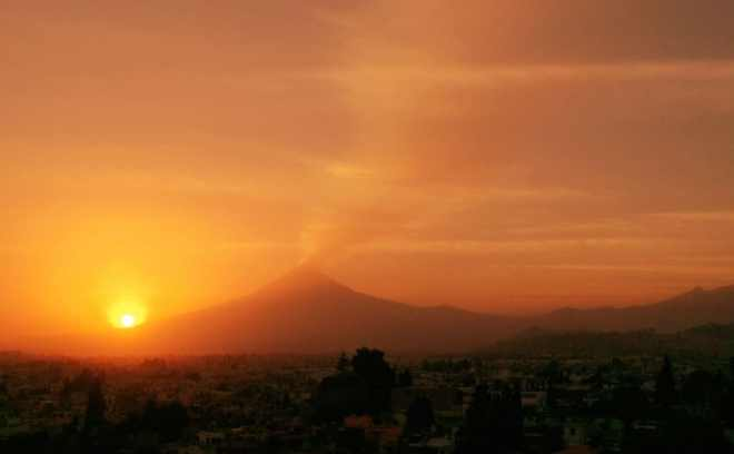 Popocatepetl sunset