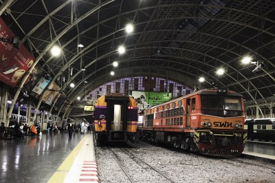 Ah, vandaar dat de trein op tijd was, dit is het eindstation. Of in ons geval: het beginstation.