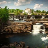 Many Small Waterfalls in Almonte, Ontario Canada