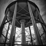 Black and White Big Water Tower