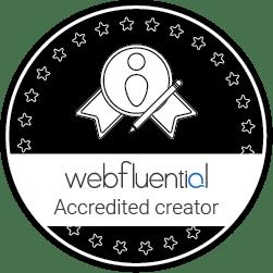 Webfluential accredited creator.