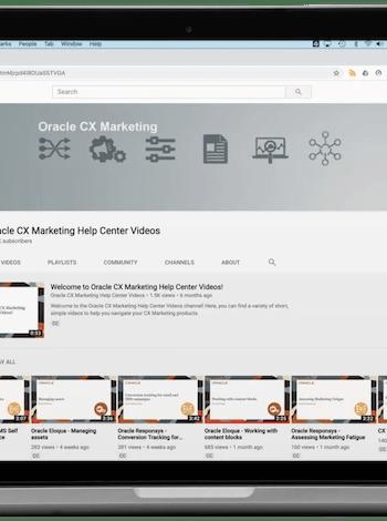 Marketing Cloud Help Centre Videos