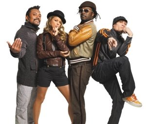 The Black Eyed Peas.  (Far left) Apl.  (Far right) Silly pose.