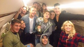 """Champs, and finalists, are on their way to GMA! Tune-in for another awesome DWTS Finale Party! #DWTSFinale"" - November 25, 2015 Courtesy GMA twitter"