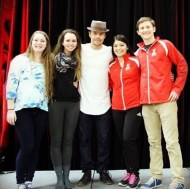"""Derek Hough is an official member of OSU DanceSport....nbd"" - February 12, 2016 Courtesy austi_j IG"