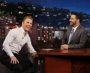 """""""I had a terrible time on @jimmykimmel . Clearly! Watch tonight"""" - February 15, 2015 Courtesy derekhough IG"""