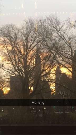 Derek says goodmorning from New York where he is to visit Kelly & Michael - February 17, 2016 Courtesy derekhough snapchat