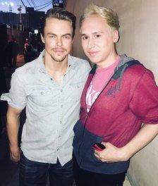 """With @derekhough! He's hot! 🙀"" - February 15, 2016 Courtesy GregSmeltzer twitter"
