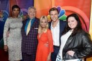 """The #HairsprayLive cast stepped out for the TCA tour today! #JenniferHudson #HarveyFierstein #KristinChenoweth #DerekHough #MaddieBaillio"" - August 2, 2016 Courtesy justjared IG"
