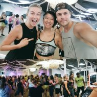 """Had a blast @justdance w/@juleshough & @derekhough! Thx 4 fun dance class! #MOVEinteractive #move #love #life #mpg"" - August 23, 2016 Courtesy artsycade twitter"