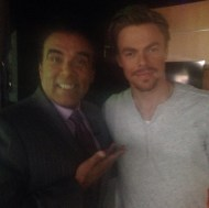 """This guy's just too good looking, right?! The talented @derekhough took a break from #dwts rehearsals w/ Marilu Henner to stop in on our 3pm @abc7la"" - September 15, 2016 Courtesy abc7danny IG"