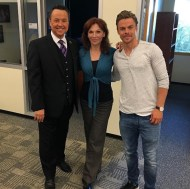 """Marilu Henner & Derek Hough stopped by the station yesterday to join us LIVE for our 3 o'clock news to talk about this season's ""Dancing With The Stars."" #dwts #dancingwiththestars #abc #mariluhenner #derekhough"" - September 15, 2016 Courtesy abc7george IG"