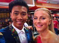 """""""At the EMMYS met Julianne Hough from Dancing with the Stars for the first time."""" - September 18, 2016 Courtesy brandeecimo IG"""