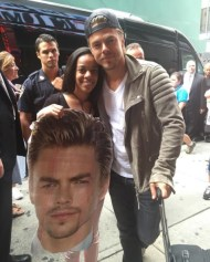 """Double Derek 😍😍 always the best seeing this guy! Love you @derekhough thank you for everything! #dwts #derekhough #dancingongma"" - September 7, 2016 Courtesy x3stef IG"