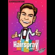 """""""6/11: you can't stop the beat! 🎶👗🎉@derekhough is #cornycollins in the new @nbchairspraylive on december 7th! 😃😃 Hope you guys like it! 😊🙃 #derekhough #jvidrogocartoons #hairspray #hairspraylive #hairspraylive2016"""" - October 29, 2016 Courtesy jvidrogocartoons IG"""