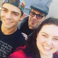 """Only my 4th day of rehearsal @nbchairspraylive and I'm in love with these two. @maddiebaillio @garrettclayton1 wait until you all see what I'm getting to see every day!!!! This'll be the biggest tv musical yet. #december7th #hairspray #hairspraylive #fullout #youcantstopthebeat #nbc #live #rehearsal"" - October 18, 2016 Courtesy michaelorland IG"