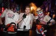 """""""Thanks for scaring the life out of me on Saturday @HorrorNights @UniStudios #UniversalHHN"""" - October 24, 2016 Courtesy derekhough IG"""